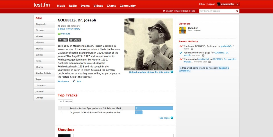 GOEBBELS, Dr. Joseph – Discover music, concerts, & pictures at Last.fm